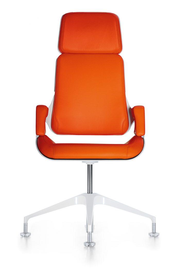 konferenzstuhl_silver_191s_frontal_orange_beschichtet