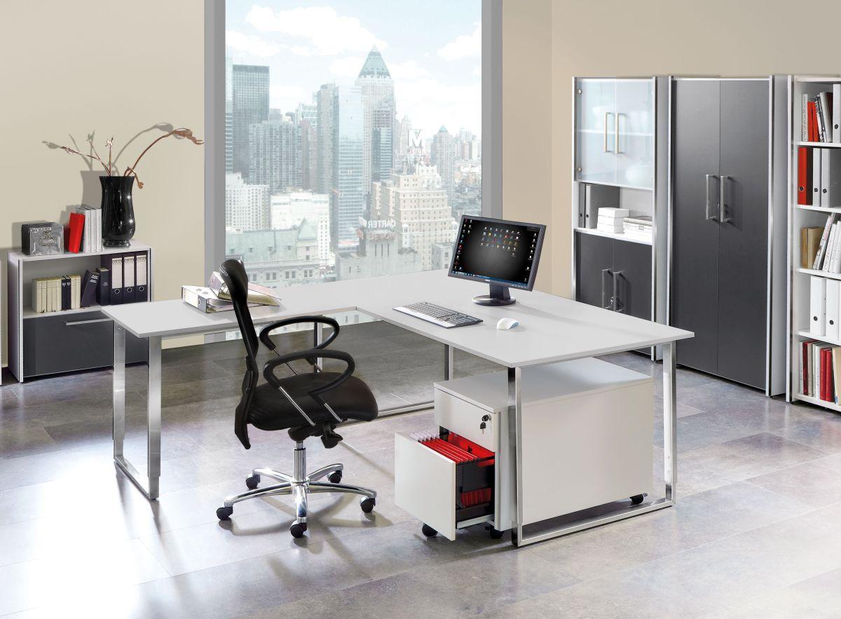 Schreibtisch mit Anbautisch Palermo | Klassiker Direkt - Chefzimmer ...