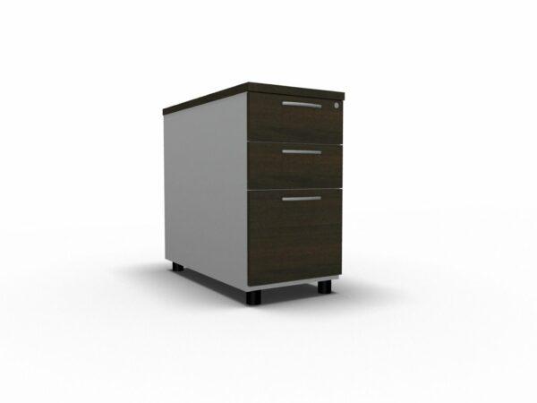 Anstellcontainer_KDT73_Wenge_Aluminium