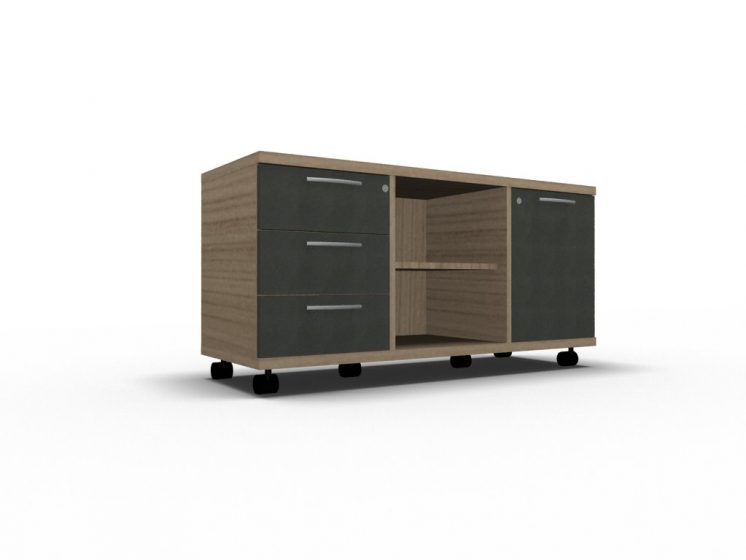 Rollcontainer_Sideboard_A120M_Cacao_Anthrazit