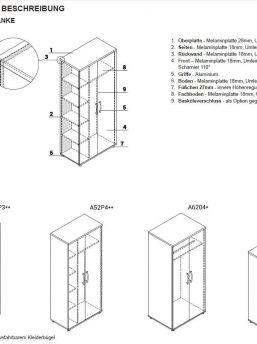 Garderobenschraenke Technische Beschreibung