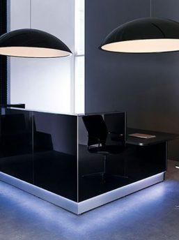 Bürolampe Sunbeam Empfangstheke Linea