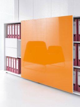 Bueroschrank-mit-Schiebetueren-ZS02-orange