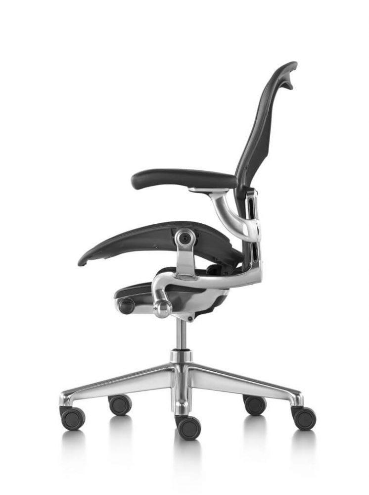 Aeron Graphite Zonal back Support polished aluminium