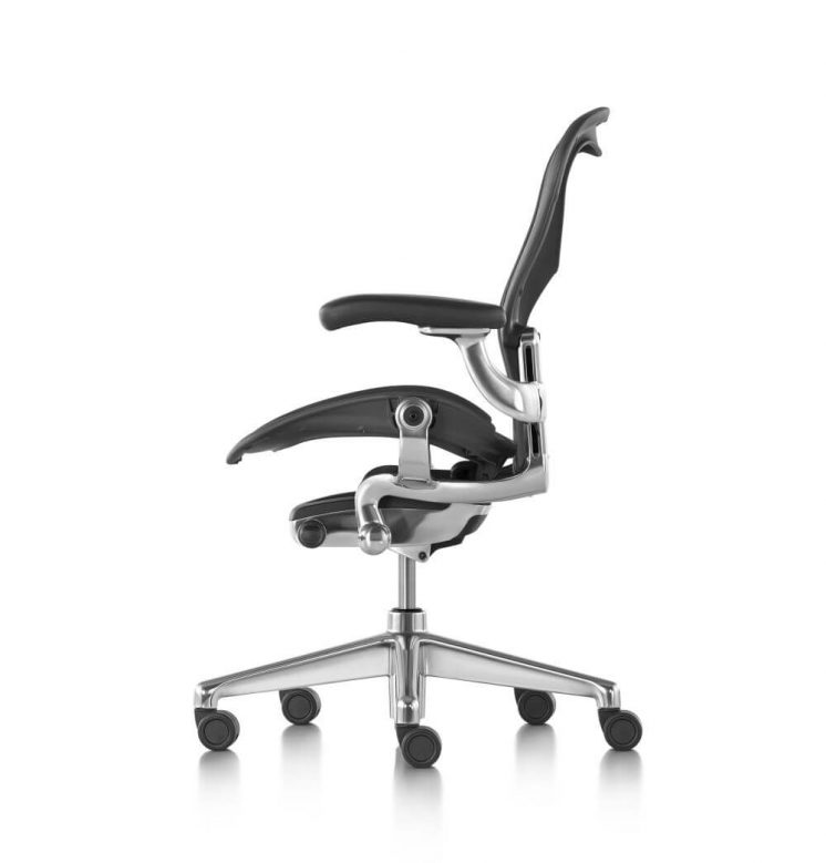 Aeron Graphite Zonal back Support polished aluminium
