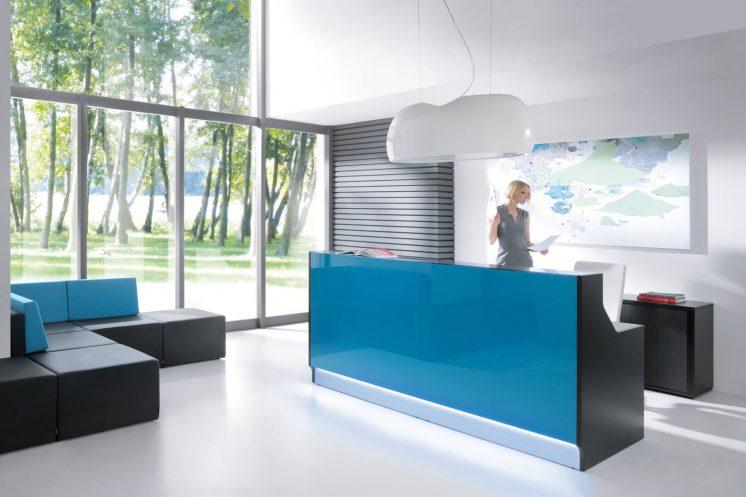 Design Buerolampe Canoe Empfangstheke Linea