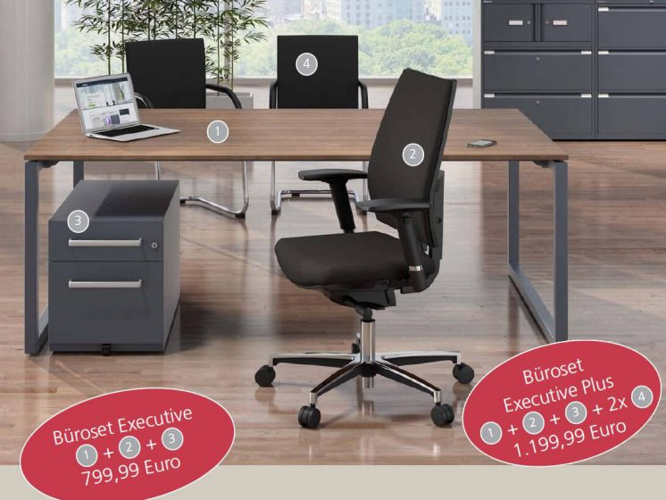 Büromöbel Komplettset Executive