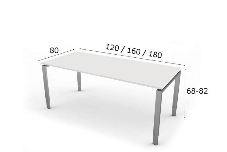 Schreibtisch Hoehenverstellbar NeapelPro Abmessungen