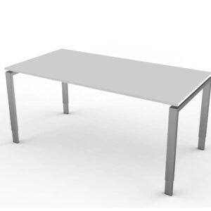 Schreibtisch Hoehenverstellbar NeapelPro lichtgrau