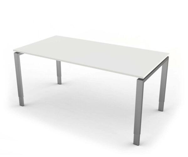 Schreibtisch Hoehenverstellbar NeapelPro weiss