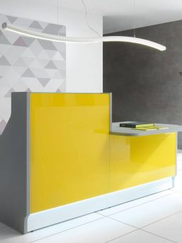 Empfangstisch-Deno-Aluminium-satinato-gelb