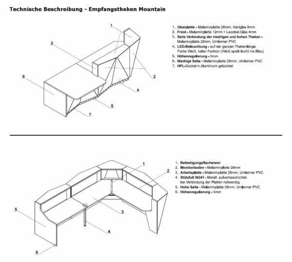 Technische-Beschreibung-Empfangstheken-Mountain