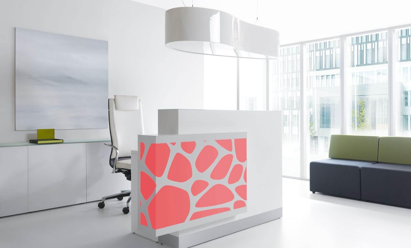 design empfangstheke aqua mit led beleuchtung b rom bel. Black Bedroom Furniture Sets. Home Design Ideas