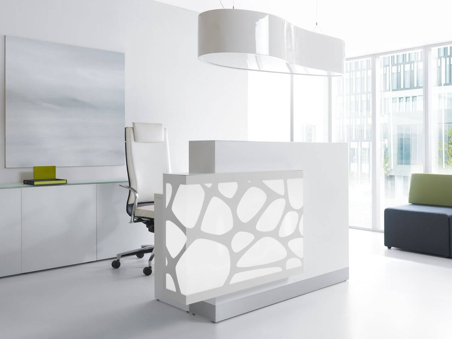Design Rezeption Aqua LOG11 | Klassiker Direkt - Chefzimmer ...