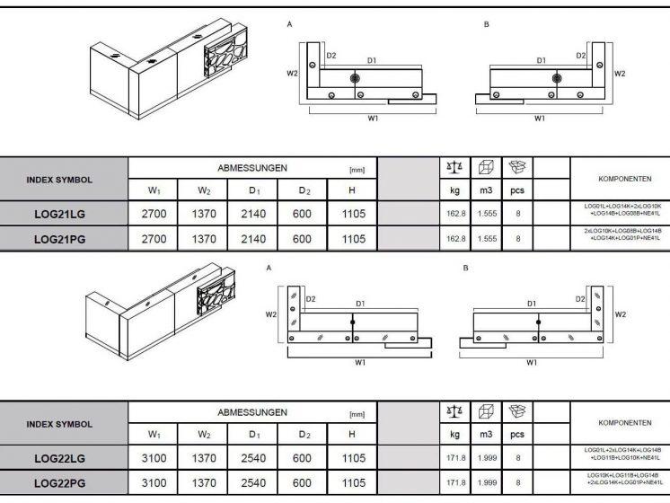 Empfangstheke-LOG21-LOG22-Abmessungen