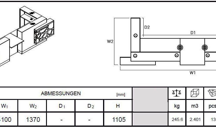 Empfangstresen-Aqua-LOG24G-Abmessungen