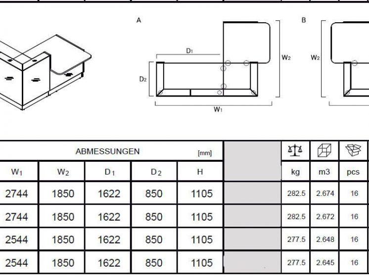Rezeption-LIN41-Abmessungen