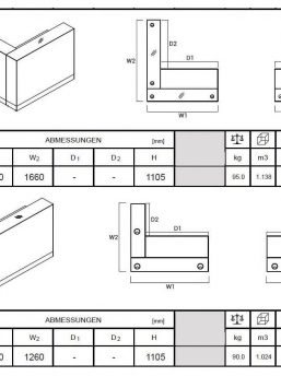 Ecktheke-Aqua-LOG15-LOG17-Abmessungen