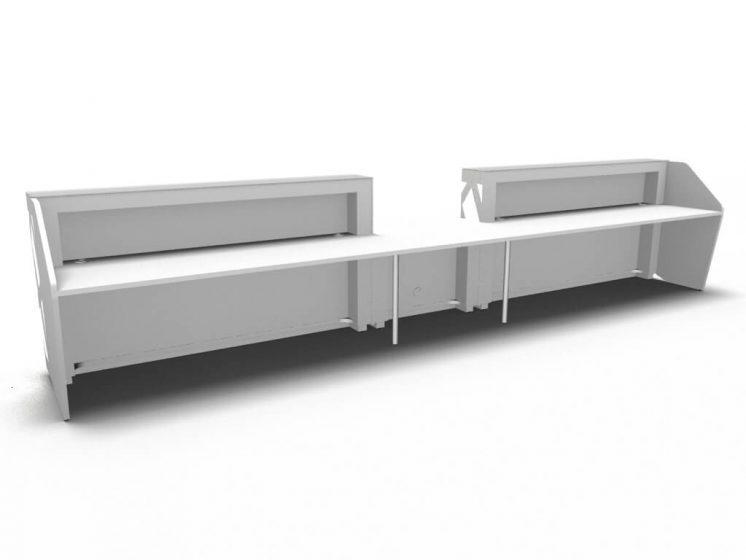 design empfangstheke mit led beleuchtung counter desk wei b rom bel. Black Bedroom Furniture Sets. Home Design Ideas