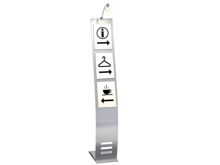 Info-staender-schmal-mit-Halogenleuchte-Plakattasche-DIN-A4