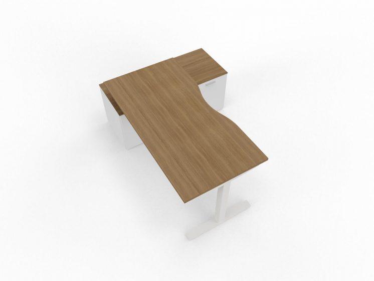 Schreibtisch-Winglet-Nussbaum-Weiss