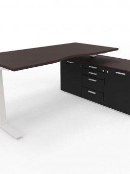 Schreibtisch-Winglet-dunkel-Wenge-Schwarz