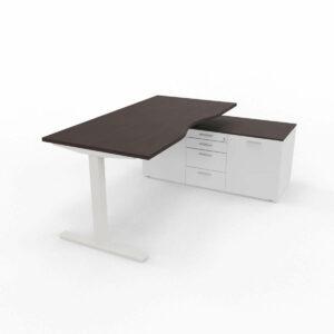 Schreibtisch-Winglet-mit-Sideboard-Wenge-Weiss