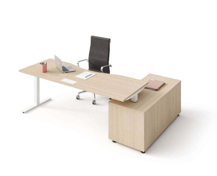 Schreibtisch-mit-Sideboard-Winglet-eiche-natur