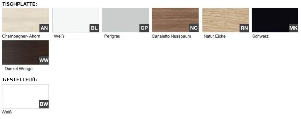 Dekor-Melamin-Farben-Schreibtisch