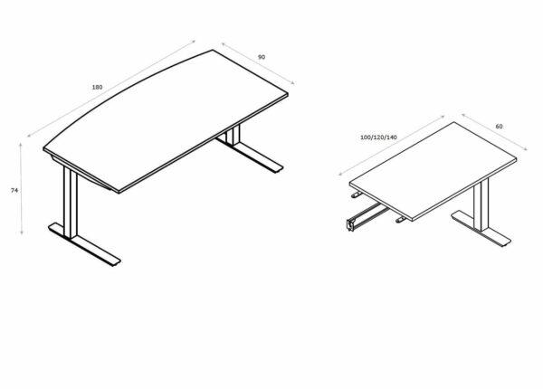 Schreibtisch-mit-Anbautisch-Abmessungen