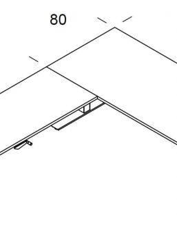 Winkelschreibtisch-Winglet-Abmessungen
