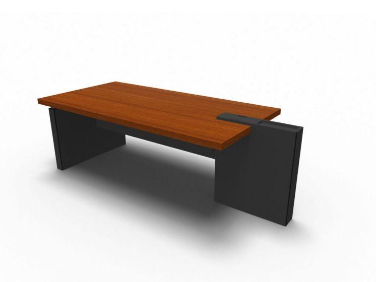 Schreibtisch-Cross-Haselnuss-Anthrazit