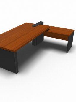 Winkelkombination-Schreibtisch-Cross-Haselnuss-Anthrazit