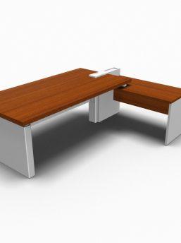Winkelkombination-Schreibtisch-Cross-Haselnuss-Weiss