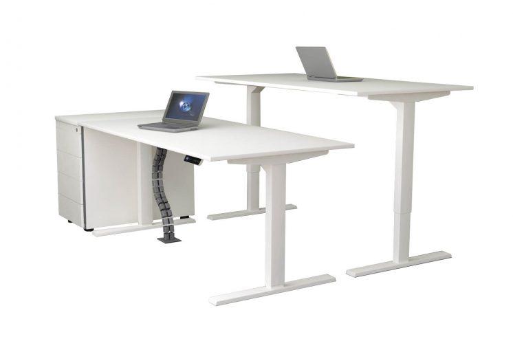 Schreibtisch-elektrisch-höhenverstellbar-Move-mit-Anstellcontainer