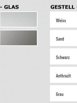 Glasschreibtisch-Stripe-Farben