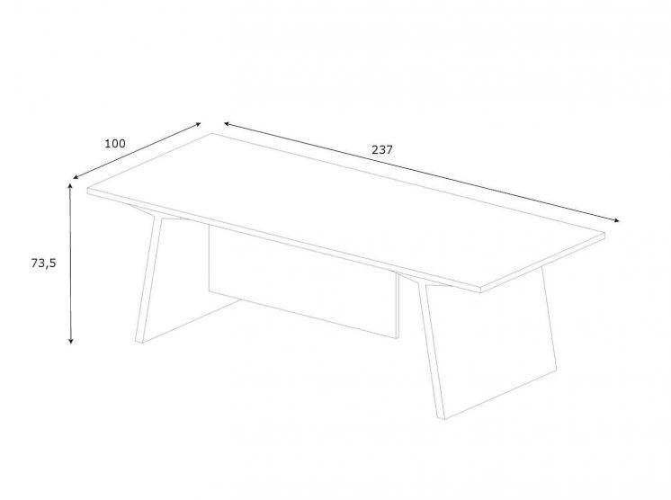 Schreibtisch-Maki-Abmessungen