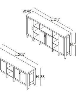Sideboards-Gamma-Abmessungen