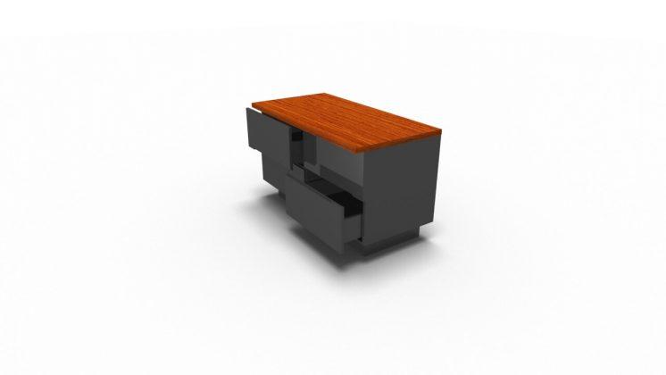 Sideboard-Maki-4-Schubladen-Makore-Anthrazit