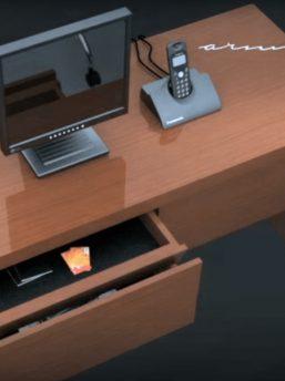 Versteckte-Schublade-mit elektronischem-Schließsystem