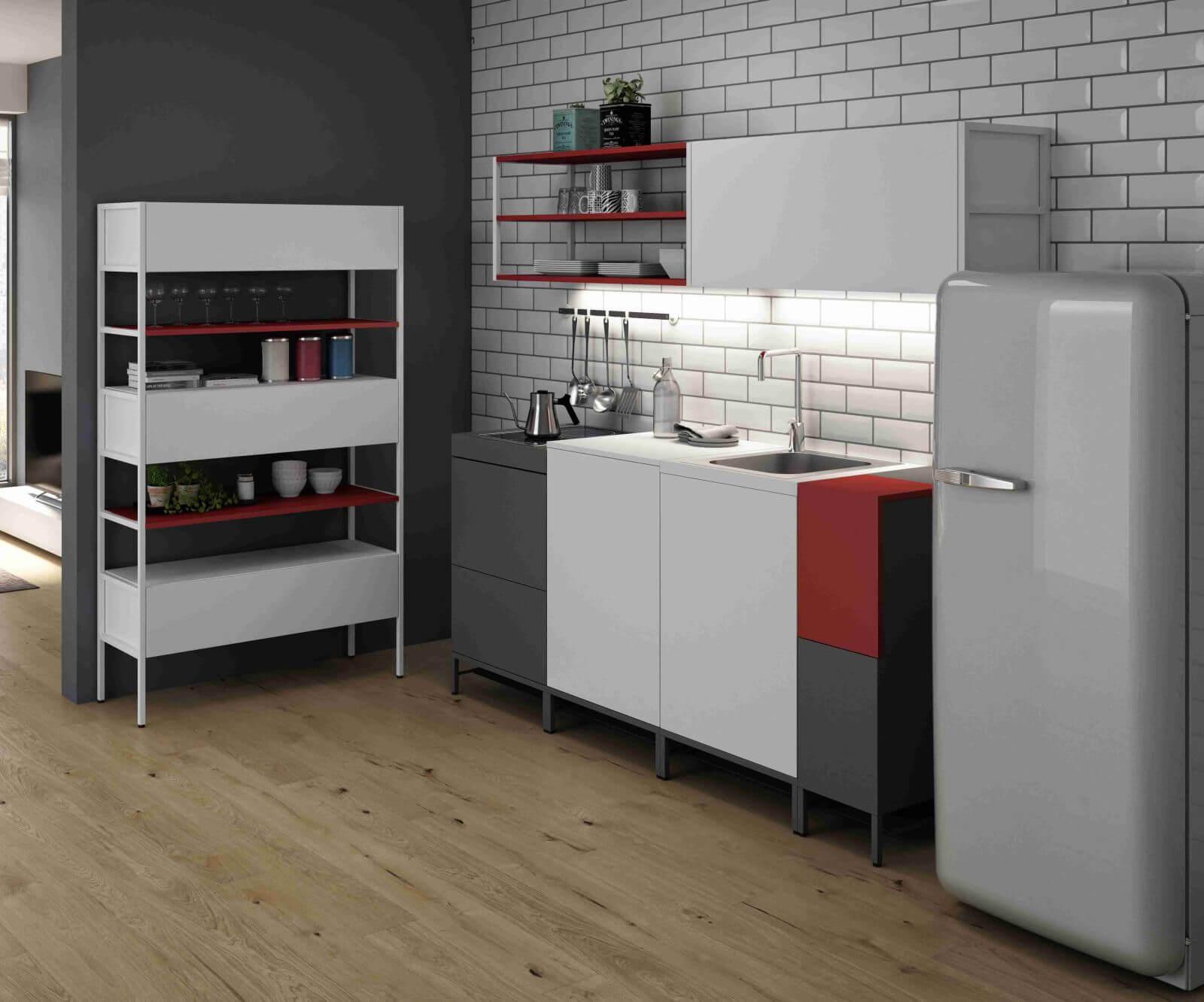 Modulare Küche kompakte design küche domomag von bralco   büromöbel