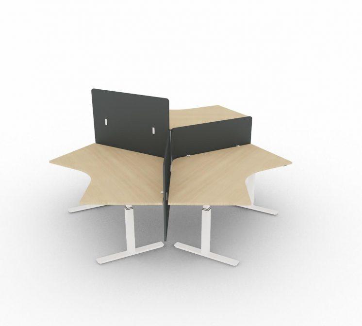 3-Personen-Arbeitsplatz-elektrisch-hoehenverstellbar-mit-Sichtschutzpaneelen