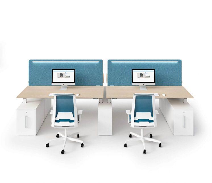 Schreibtisch-4-Personen-Winglet