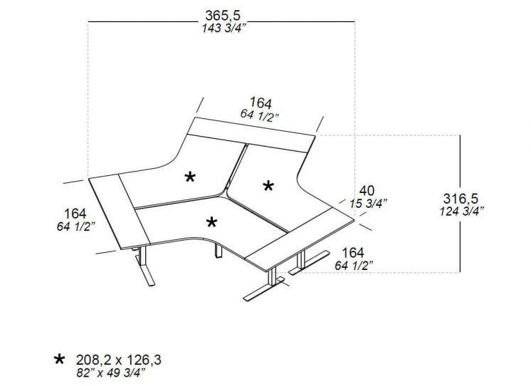 Schreibtisch-fuer-3-Personen-Winglet-Abmessungen