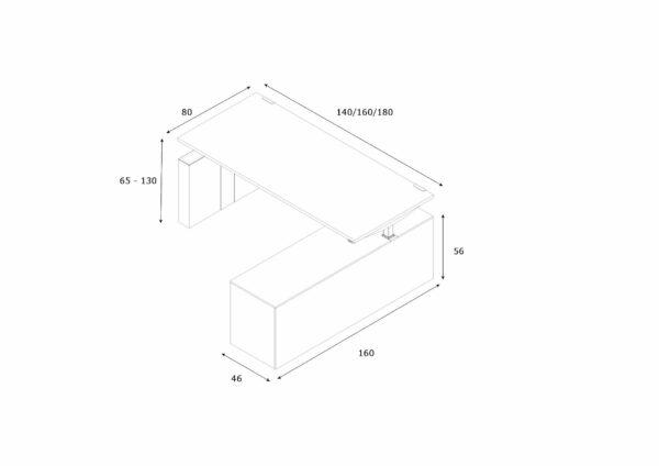 Schreibtisch-mit-Sideboard-hoehenverstellbar-Abmessungen