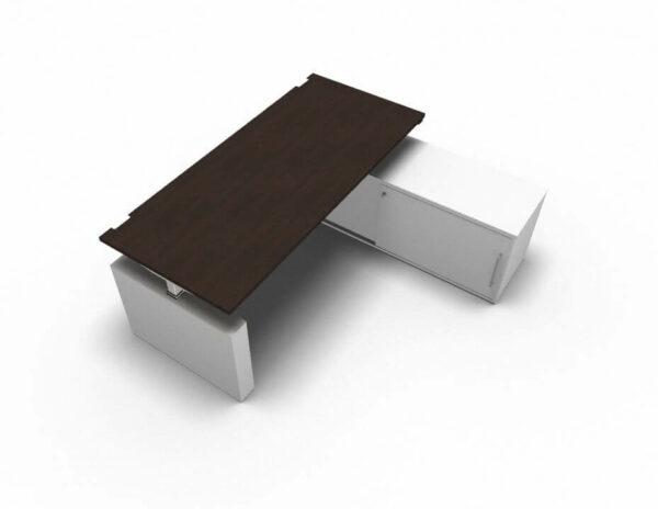 Schreibtisch-mit-Sideboard-hoehenverstellbar-Eiche-dunkel