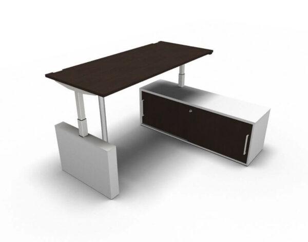 Steh-Schreibtisch-mit-Sideboard-hoehenverstellbar-Eiche-dunkel