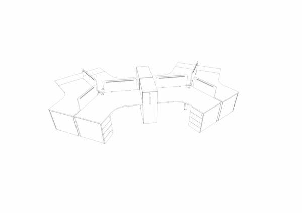 Teamarbeitsplatz-6-Personen
