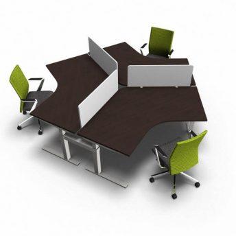 Teamarbeitsplatz-hoehenverstellbar-3-Personen-dunkel-Eiche