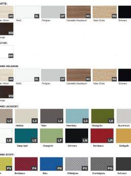 Trennwand-Farben-Schreibtisch